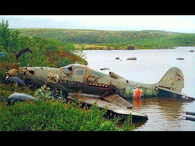 Поднятие самолета АЭРОКОБРА со дна озера / НАХОДКИ ЧЕРНЫХ КОПАТЕЛЕЙ И ПОИСКОВИКОВ N 66