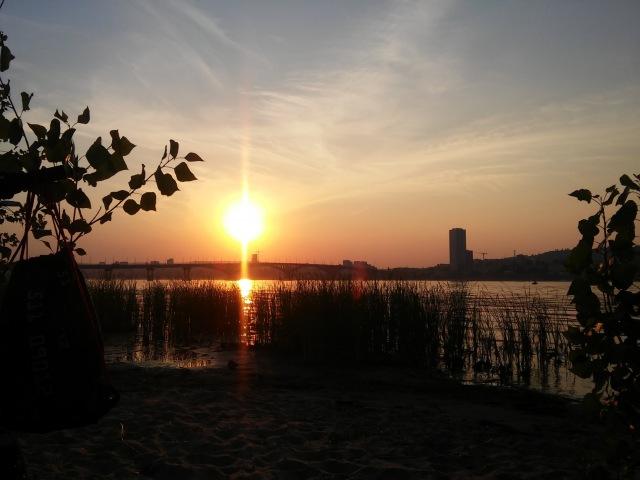 Закат, Городской пляж, Саратов, 16.07.16