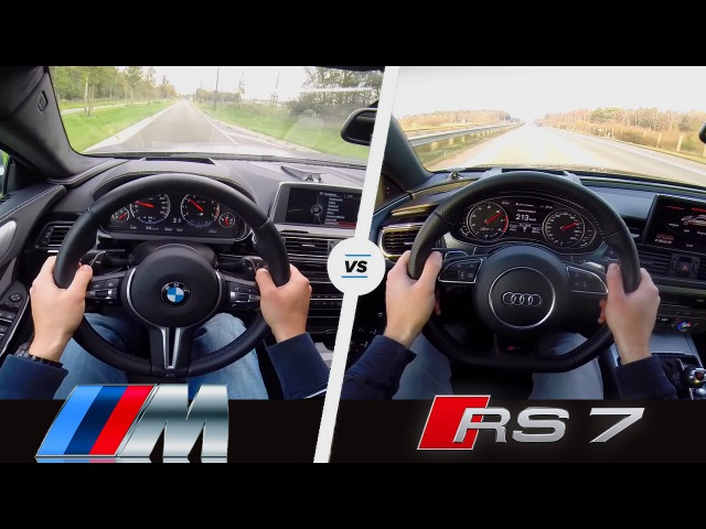 BMW M6 vs Audi RS7 | Acceleration Sound POV | Gran Coupe vs Sportback