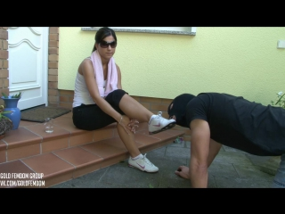 Lady Chanel after gym feet #ass #coons #fetish #femdom #bdsm #ballbusting #foot #domination #bondage #facesitting #farting #foot