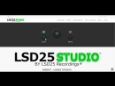 Developing web page LSD25 Studio Mastering and Mixdown