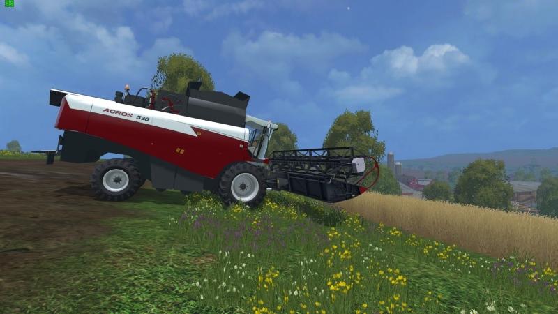 Обзор мода Акрос-530 для Farming Simulator 15