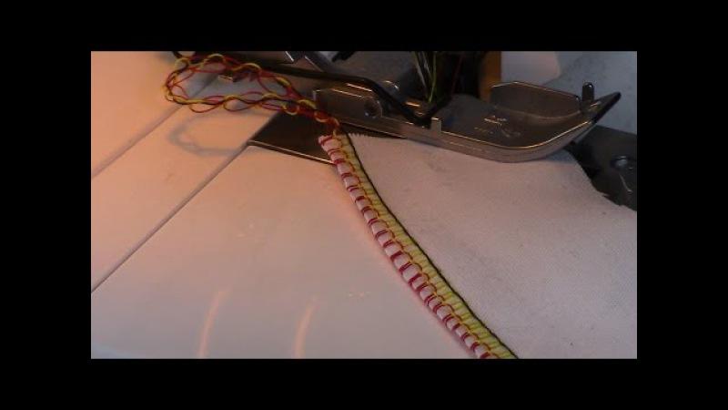 Оверлок Brother 1034 D. Как отрегулировать петлистую строчку. Видео № 153.