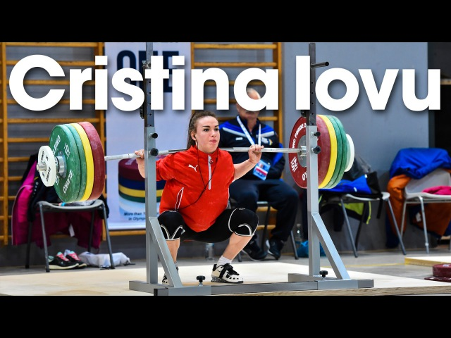 Cristina Iovu (53kg) Training Hall 2016 European Weightlifting Championships