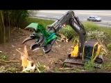 excavator attachments, excavator wood processor, amazing excavator equipment working