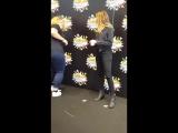 Alycia Debnam-Carey with fans. Comic Con. Copenhagen.