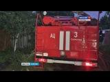 Тушение пожара в двухэтажном доме на Рахова осложнилось отсутствием гидранта