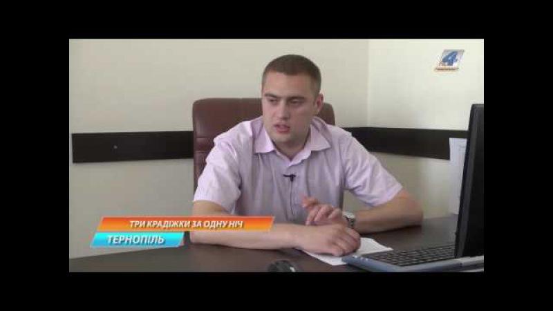 Три крадіжки за одну ніч здійснив у Тернополі 22-річний уродженець Івано-Франківщини