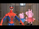 Человек Паук Свинка Пеппа и Джордж попали в Тюрьму Мультик Игра на русском игрушки для детей