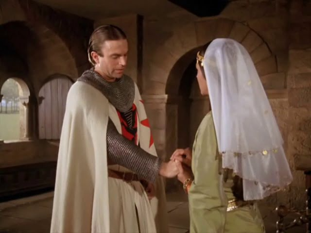 Sam Neill and Olivia Hussey in Ivanhoe 1982 (Brian de Bois-Guilbert and Rebecca)