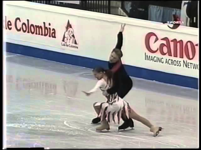 Anna SEMENOVICH Roman KOSTOMAROV RUS Original Dance European Championships 2000