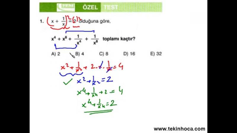 9-Çarpanlara Ayırma (Matematik Soru Çözümleri) (KPSS - YGS - LYS)