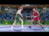 РИО-2016 греко-римская борьба 66 кг 1_8 финала Франк Штеблер (Германия) - Эдгарас Венцкайтис (Литва)