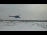 Перегруженный вертолет не может взлететь