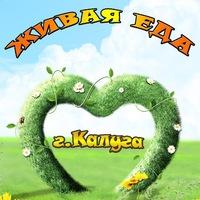 Логотип  ЖИВАЯ ЕДА Калуга пища для тела и разума