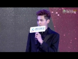 161228 Kris Wu winning Celebrity of the Year Award at Tencent White Paper