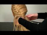 Прическа с плетением для длинных волос. Braided hairstyle tutorial