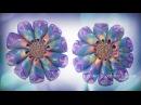 Flower Kanzashi Master Class hand made DIY Канзаши, Цветы из атласной ленты МК Зефирки для Саши