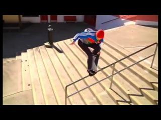 PINCHED Fs Crook Tail Grab Down Handrail! - WTF! - Kallen Matlock