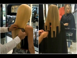 Extreme Long Hair Cutting