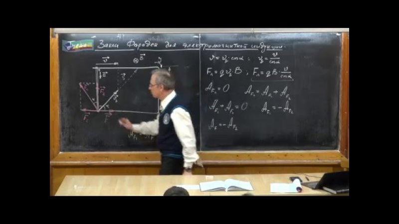 Урок 282. Закон Фарадея для электромагнитной индукции » Freewka.com - Смотреть онлайн в хорощем качестве
