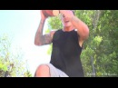 Kendra Lust plays basketball on the strip