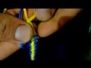 Braslet vyijivaniya iz 2mm shnura uzor Kobra 36