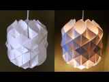 DIY paper lamplantern (Cathedral light) - how to make a pendant light out of paper - EzyCraft