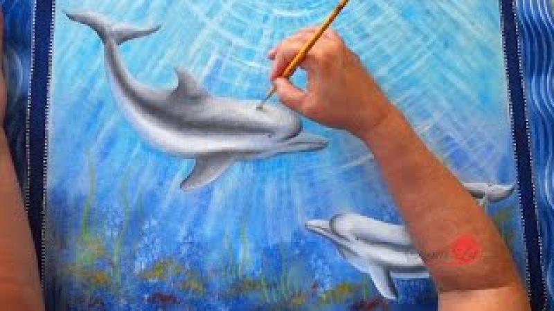 Barrado Falso com Golfinhos em Emborrachado Aula 95 Parte 2