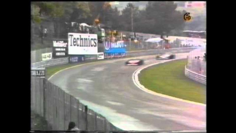 F1 San Marino GP 1981 Battle for the lead Didier Pironi vs Nelson Piquet