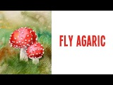 Watercolor Painting - Fly Agaric