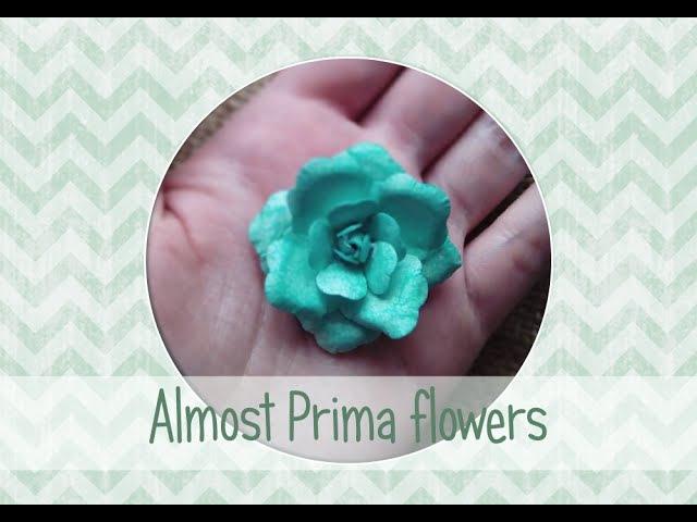 Розы а-ля Prima для скрапбукинга DYI Prima roses