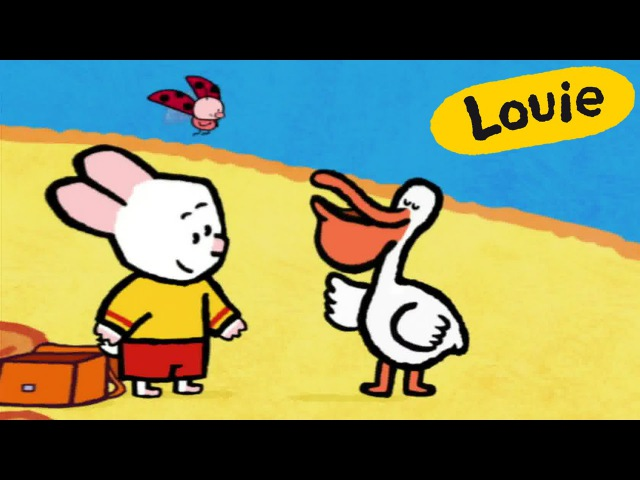 Cartoon for kids - Louie draw me a Pelican HD | Learn to draw