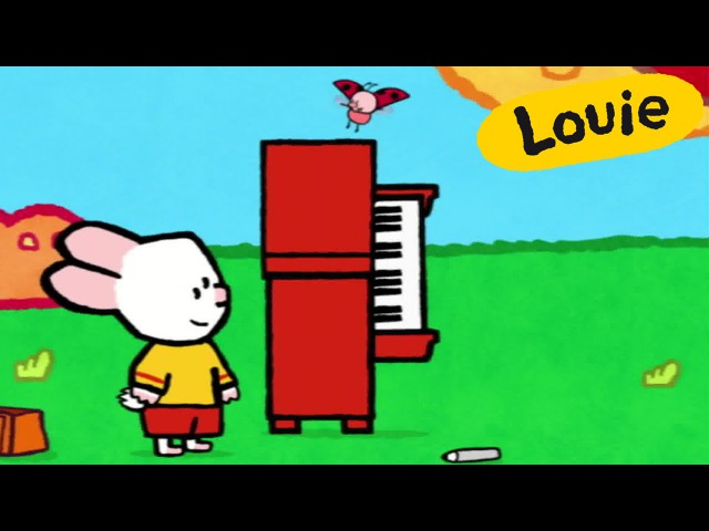 Cartoon for kids - Louie draw me a Piano HD | Learn to draw