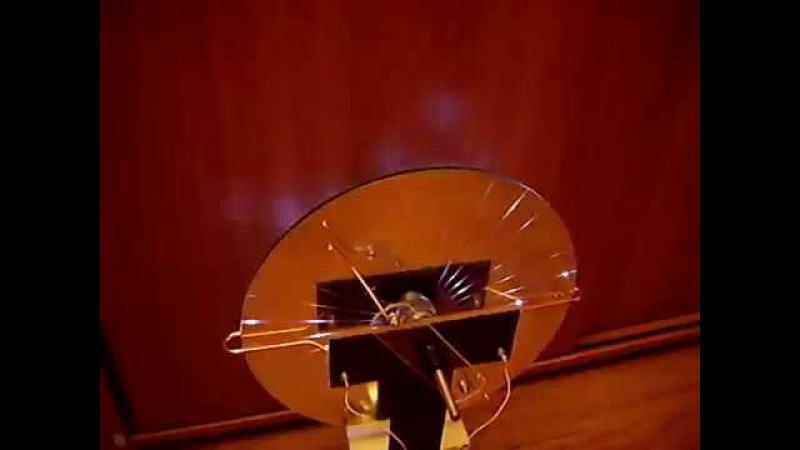 Машина Вимшурста как электростатический двигатель, Wimshurst mashine as an electrostatic motor