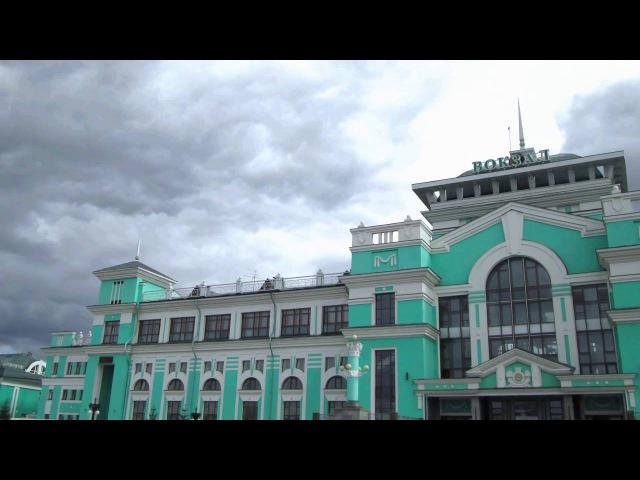 Vk.com/timelapse55 Вокзал станции Омск Западно-Сибирской железнодорожной дороги timelapse