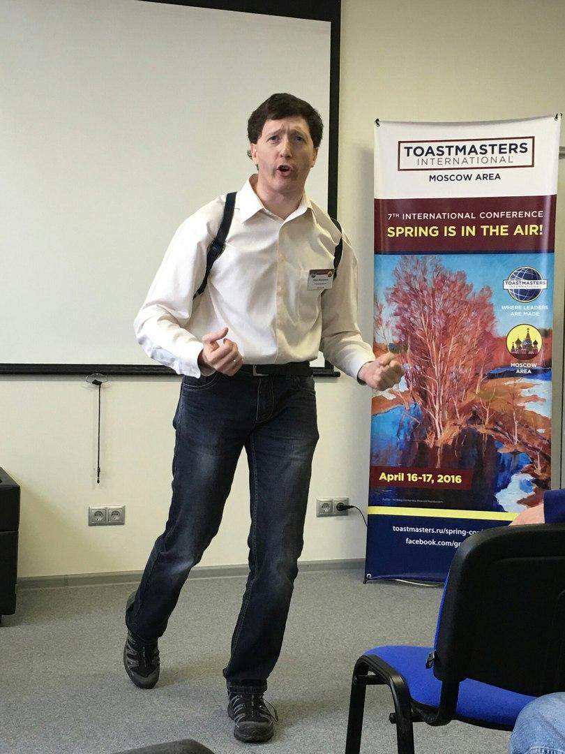 Member of SPB speechmakers club speaking