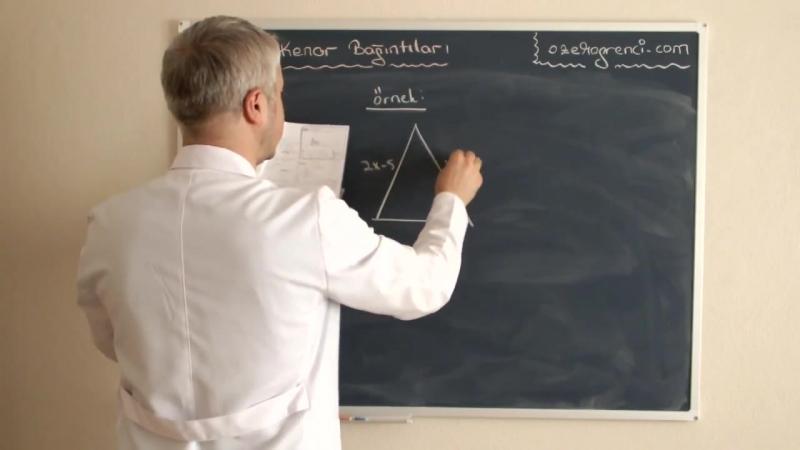 Açı Kenar Bağıntıları Videosu ve Ders Notu