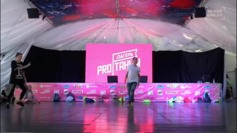 Катя Решетникова и Максим Нестерович в летнем лагере pro|танцев