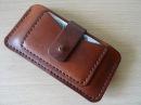 Работа с кожей. Чехол для телефона. making leather case for iphone. DIY