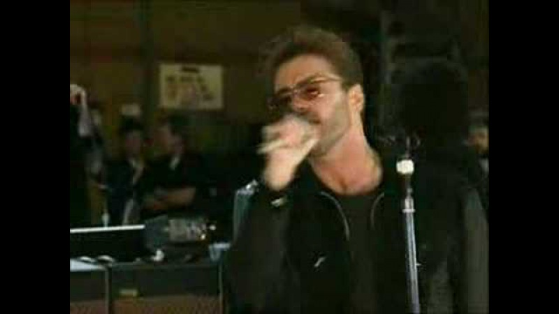 SOMEBODY TO LOVE REHERSAL GEORGE MICHAEL QUEEN ( FREDDY MERCURY TRIBUTE)