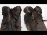 Hair Bow Tutorial Hairstyle Half-Updo for Medium Long Hair