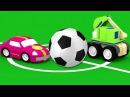 Развивающие мультики для детей. 4 машинки футбол