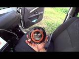 Nissan Almera тест задних колонок. Hertz DSK 130