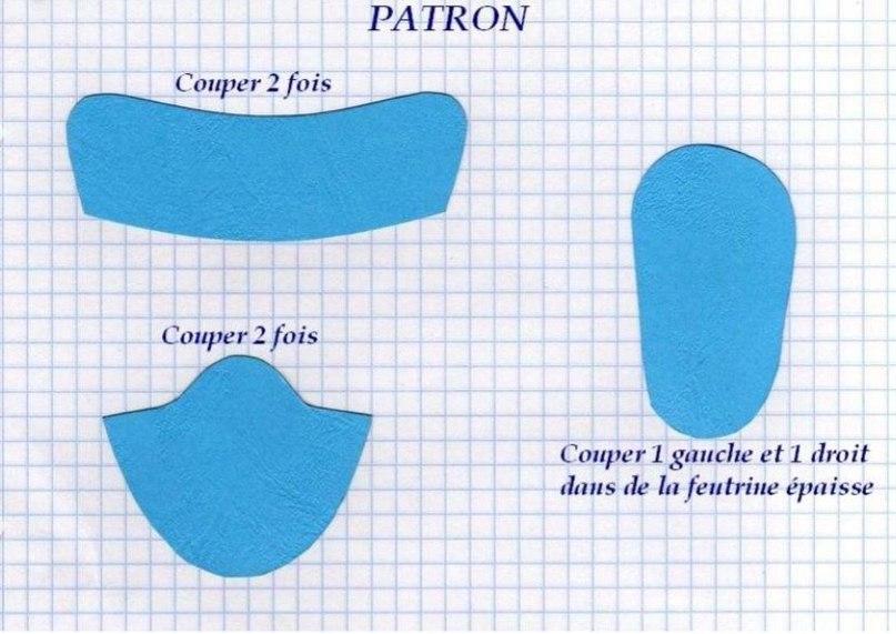 Обувь для текстильной куклы выкройки