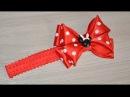 Повязка на голову с бантиком Минни Маус Headband with bow Minnie mouse