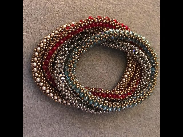 Interlace Bangle - A Bronzepony Beaded Jewelry Design