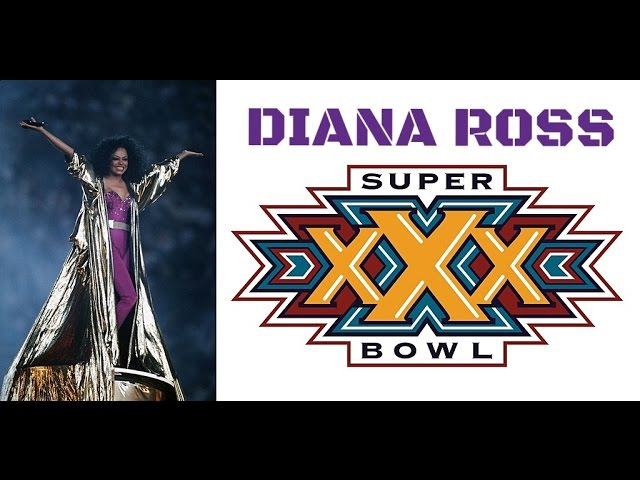 Diana Ross Half Time Show At Super Bowl XXX 1996