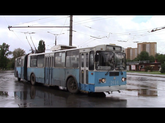 Троллейбус ЗИУ 620520 конечная Речной вокзал г Тольятти