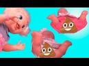 Дочки Матери с куклами Пупсиками Бэби Элайв Пупсики кушают, какают. Игрушки для девочек